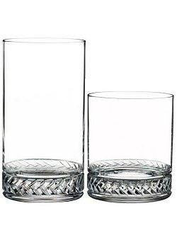 Rope Braid Crystal Barware Sets