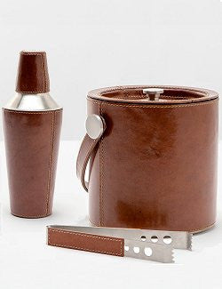 Wimbledon Stables Leather Bar Set