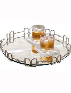 Mirrored Equine Bar Tray