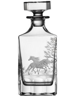 American Quarterhorse Engraved Crystal Decanter