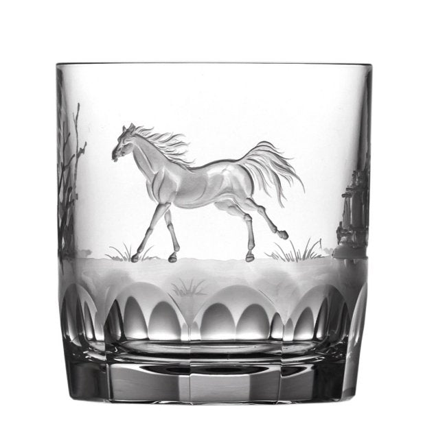 American Quarterhorse Engraved Crystal Barware Sets