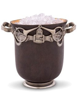 Deep Bronze Equine Ice Bucket