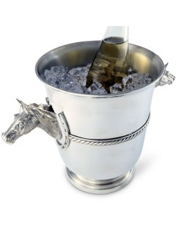 Classic Pewter Horse Head Ice Bucket