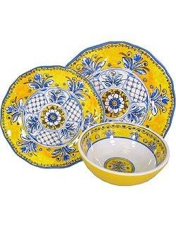 San Tropez Triple-Weight Melamine Dinnerware Set
