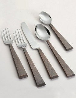 Farrier's Hammered Stainless Flatware