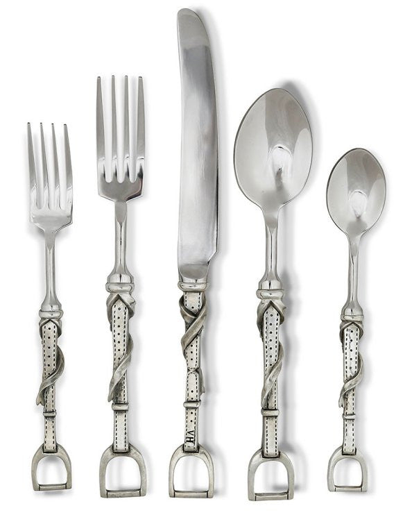 Stirrup Leathers Pewter/Stainless Flatware