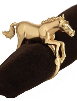 Elegance Horse Napkin Ring Sets