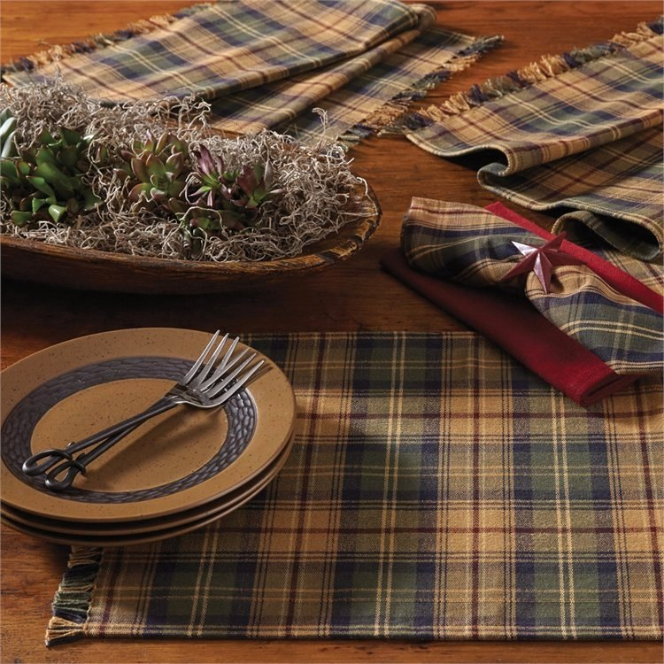 Seasons Fall Plaid Table Linen Sets
