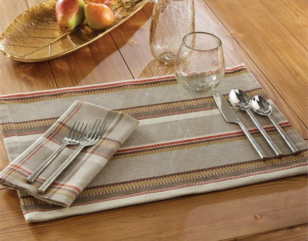Southwestern Stripe Cotton Table Linen Sets from $88 & Seasons Summer Plaid Table Linen Sets - Equine Luxuries