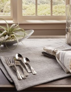 Traditions Herringbone Placemat Sets