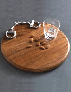 Polished Wood Horse Bit Cheese Board