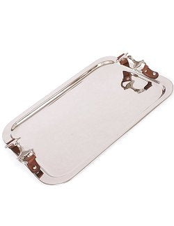 Bridle Handled Polished Nickel Serving Tray