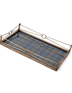 Rustic Plaid Bar/Serving Tray Set