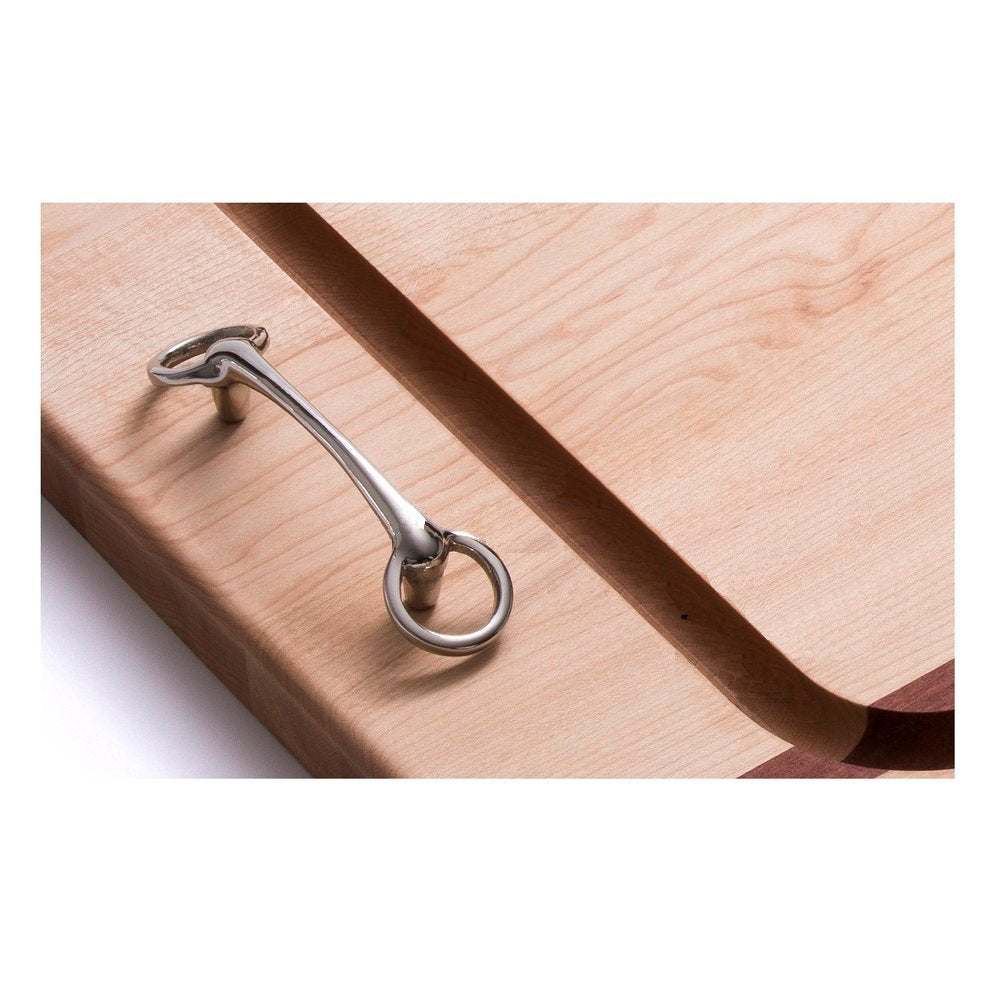 Horse Bit Handle Solid Mahogany & Maple Banquet Carvery Boards