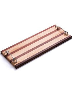 Horse Bit Handled Mahogany & Maple Long Cheese Board