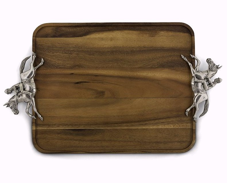 Race Day Wood Serving Tray
