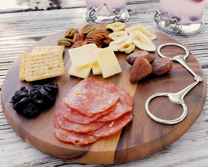 Acacia Wood Round Cheese Board