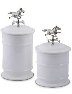 Weathervane Gallop Ceramic Canister Sets
