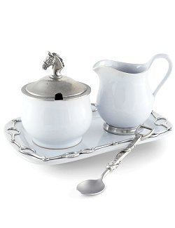 Horse Bit 5-Pc. Stoneware Sugar & Creamer Set