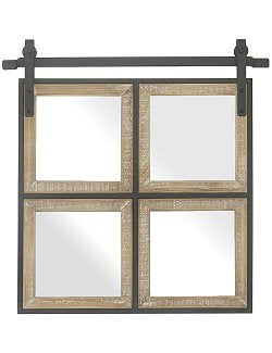 Stable Door 4-Pane Wall Mirror
