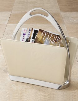 Stirrup Handle Leather Magazine/Laptop Storage