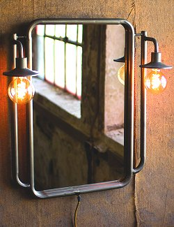 Bunk House Lighted Wall Mirror