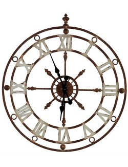 Weathered Metal Stable Wall Clock
