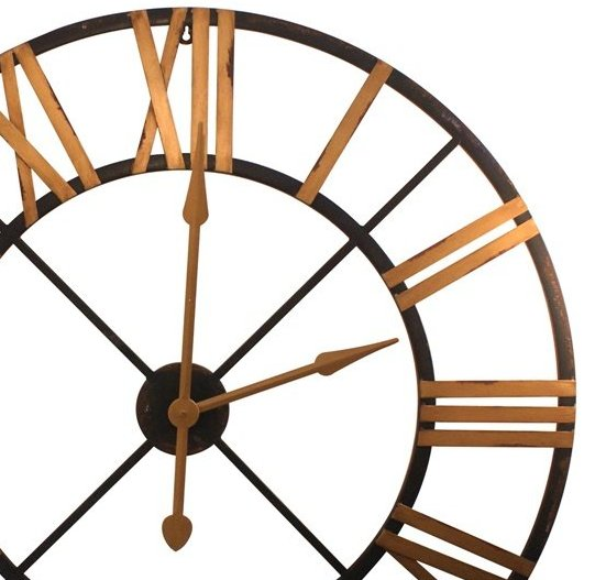 Rustic Round Gatehouse Wall Clock