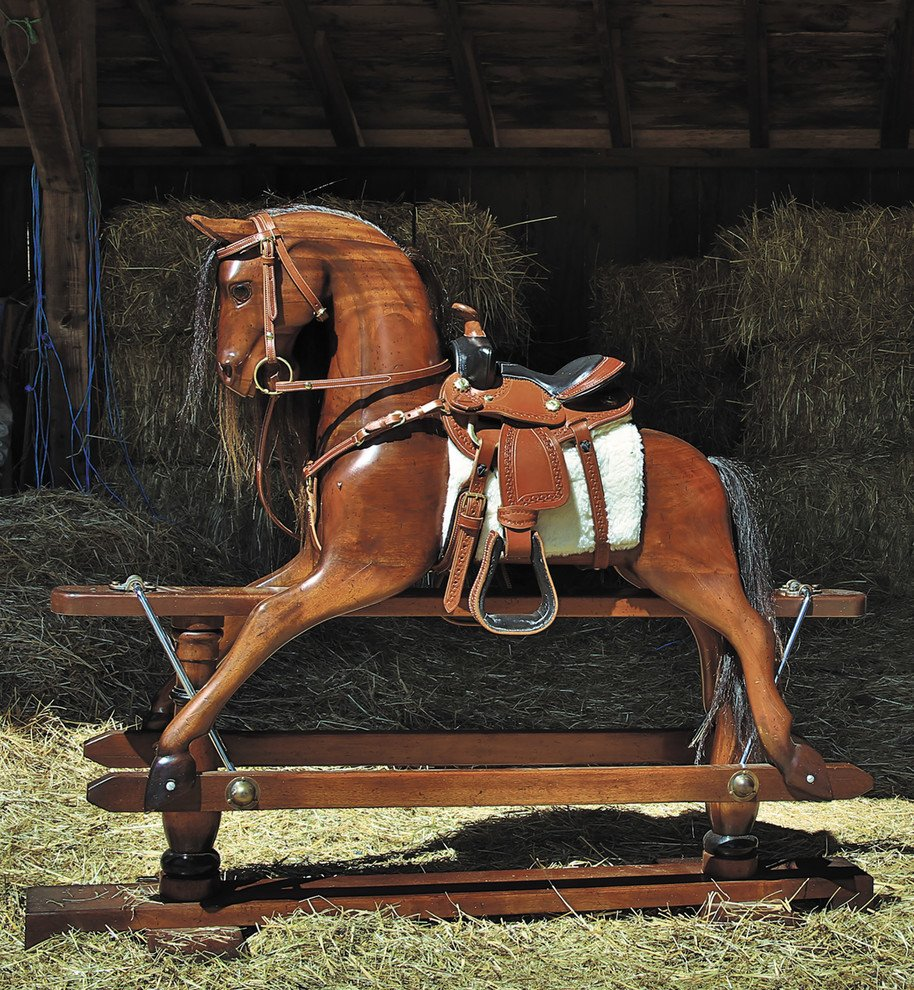 Wooden Victorian Era Rocking Horse