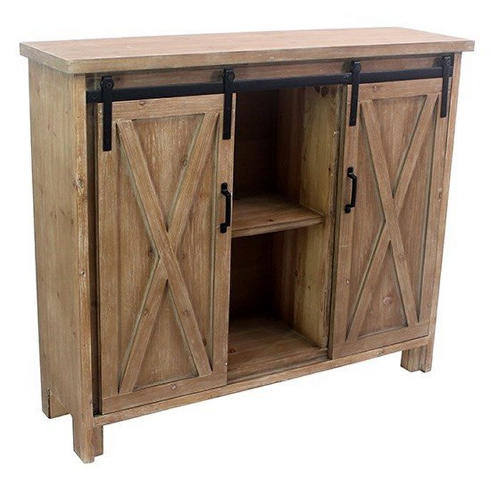 Stable Doors Rustic Wood Cabinet
