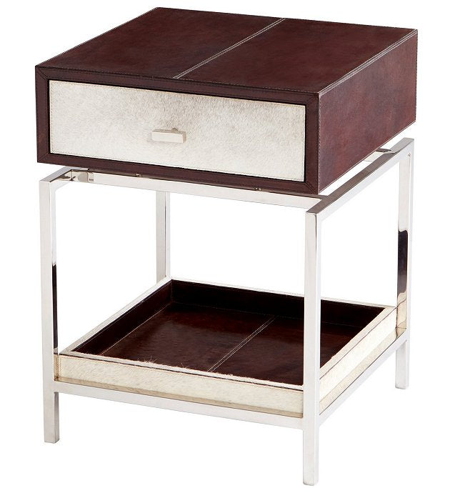 Contempo Leather & Hide Side Table