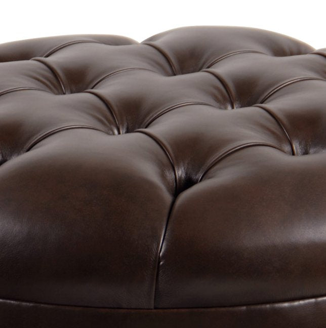 Tufted Nail Head Manor Library Ottoman