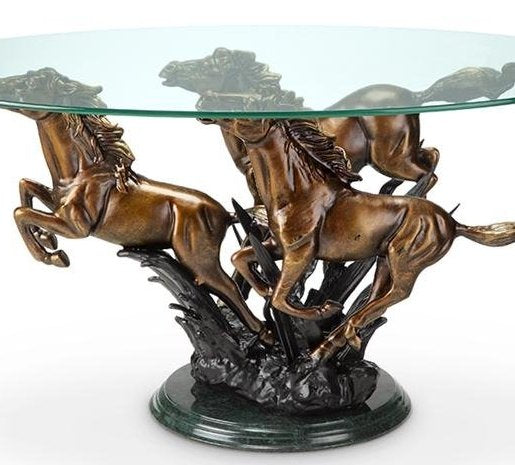 River Crossing Equine Coffee Table