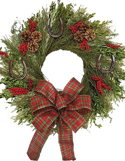 Rustic Horseshoes Year-Round Dried Natural Wreath