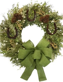 Spring Meadow Green Natural Equine Wreath