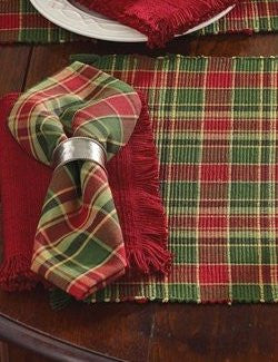 Rustic Ranch Holiday Plaid Table Linens