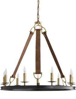 Leather Bridle Strapped Chandelier