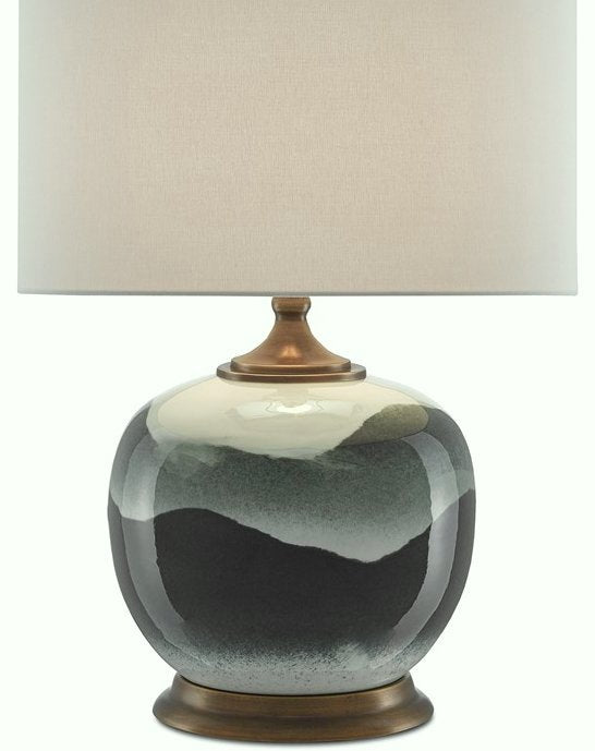 Moonlit Valleys Porcelain Table Lamp