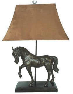 Bronze Finish Stallion Table Lamp