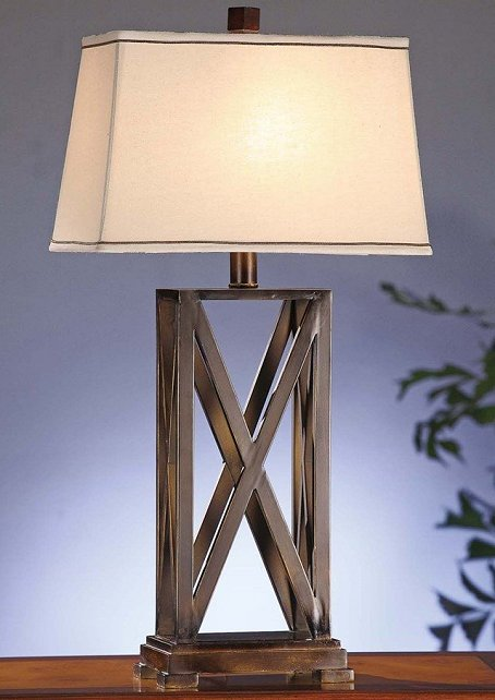 Rustic Stable Gate Table Lamp
