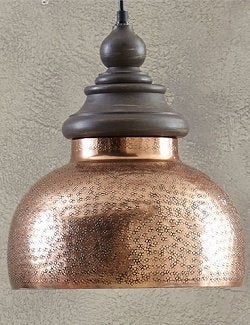 Antique Copper Finish Farrier's Pendant Light