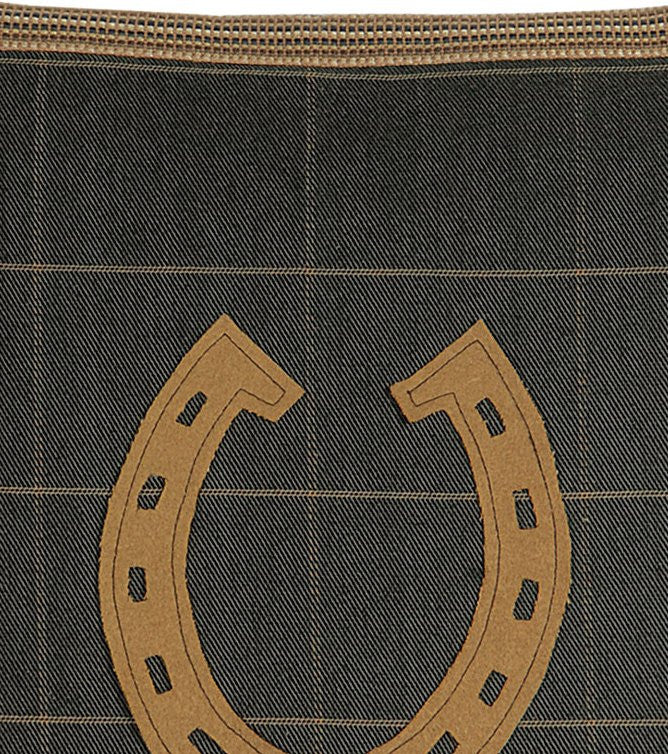 Gentleman's Plaid Horseshoe Pillow