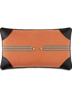 Leather Tipped Snaffle Bit Pillow