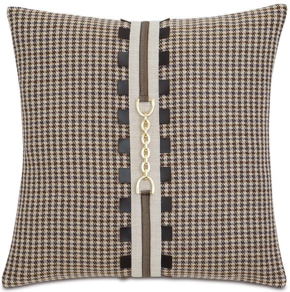 Equine Elements: Houndstooth Chain Trim Pillow
