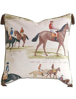 Racing Pedigree Tasseled Pillow