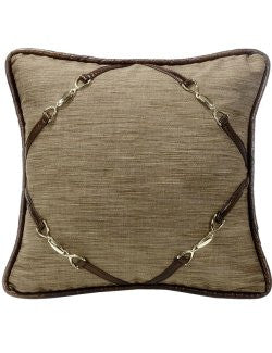 Bridle Tack Framed Accent Pillow