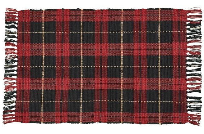 Winter Plaid Washable Rag Rugs