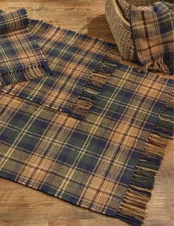 Stable Plaid Washable Rag Rugs
