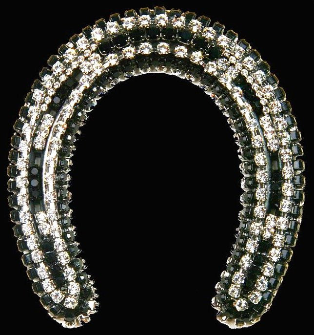 Black Beauty Swarovski Crystals Tabletop Horseshoe