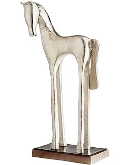 Nickel Finish Trotter Sculpture